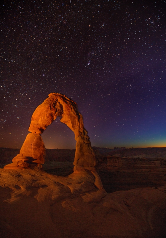 Delicate Arch And Constellation Orion