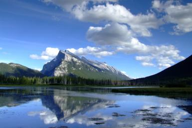 Mt. Rundle And Vermillion Lakes