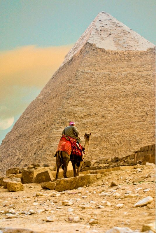 At The Pyramid Of Giza