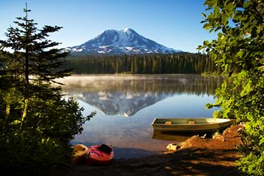 Mt. Adams At Takhlakh Lake
