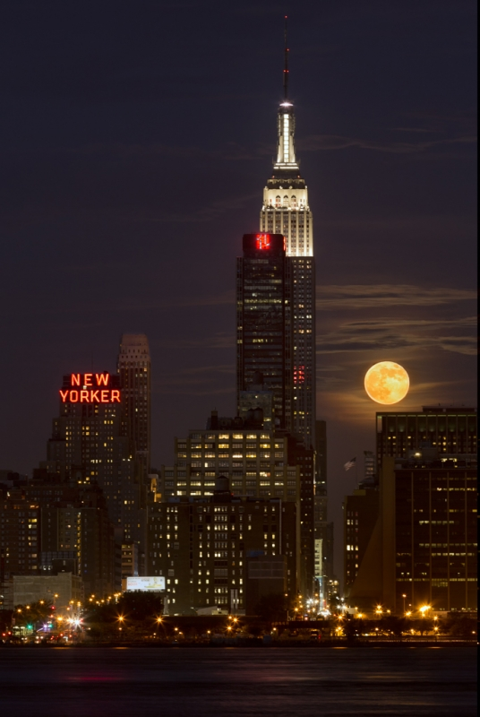 Supermoon Over Midtown