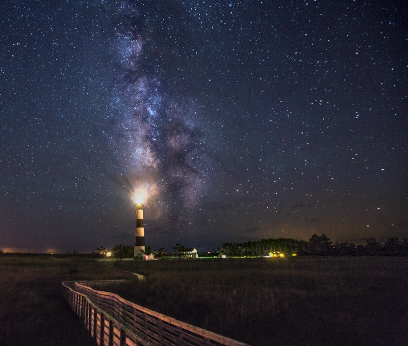 Bodie Lighthouse And The Milky Way