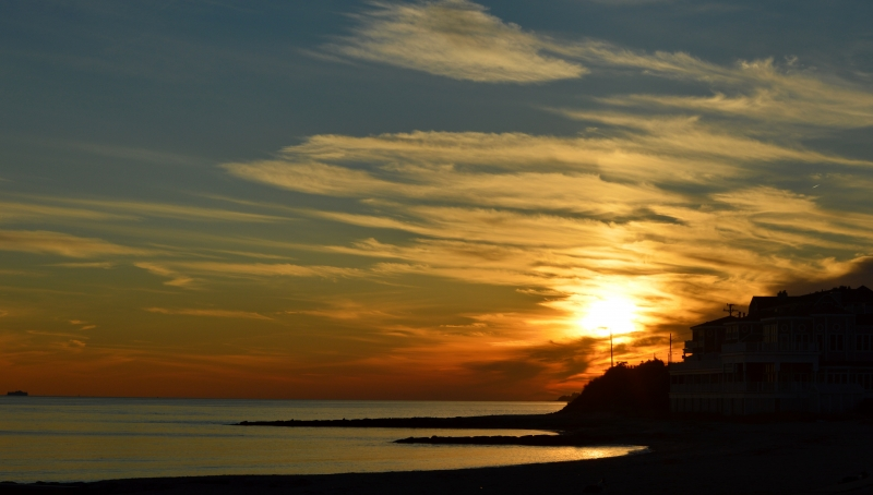 Sunset At Falmouth Heights Beach
