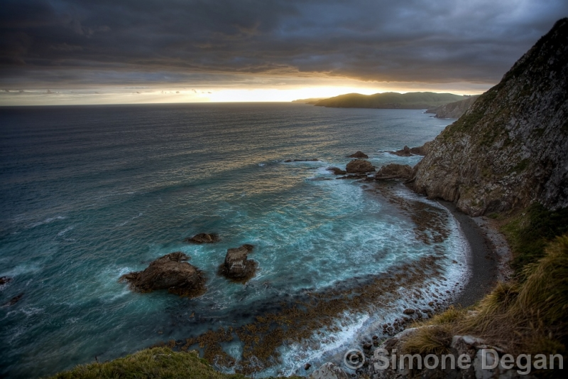 Nugget Point At Sunset ©