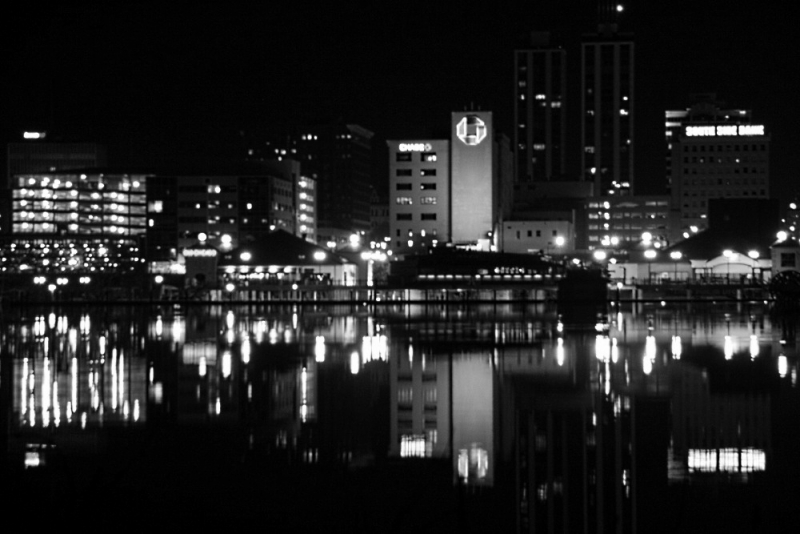 Peoria Skyline In Black And White