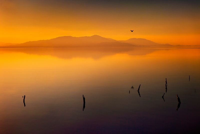 Sunset At The Salton Sea