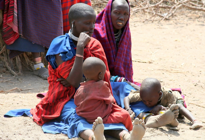 Maasai Mothers And Their Children