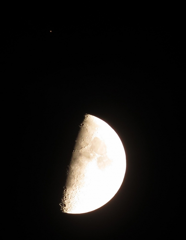 The Moon And Mars