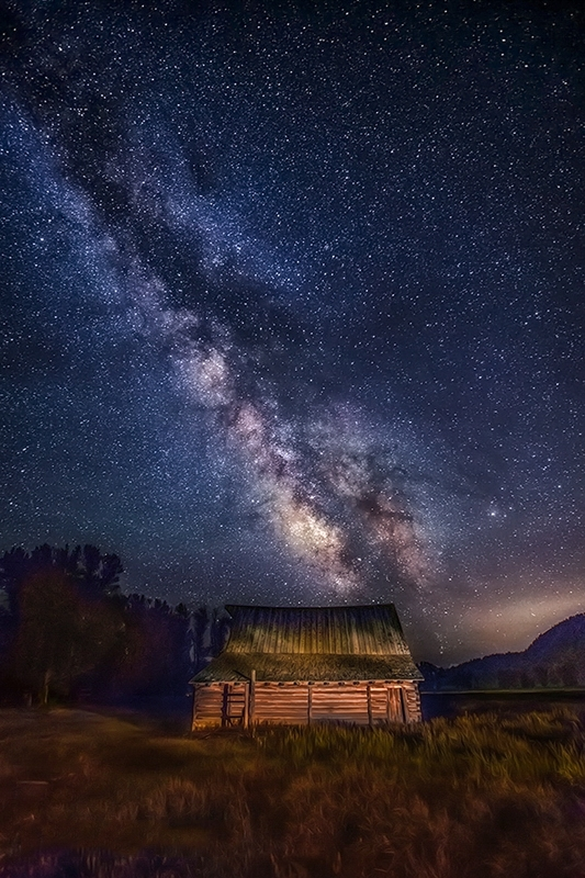 Southern Moulton Barn And The Milky Way