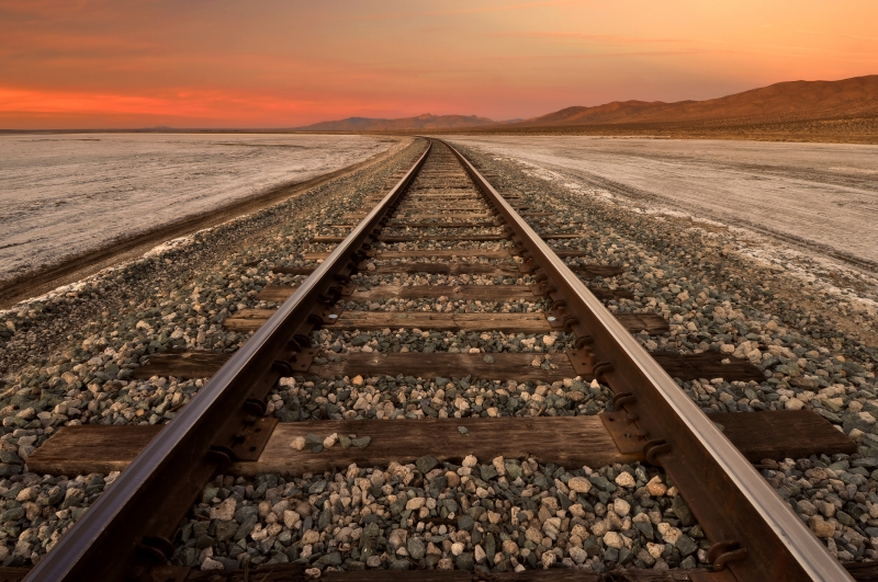 Tracks Through Koehn Dry Lake (dawn)