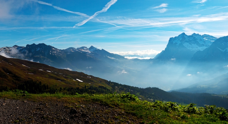 Mist Over Grindelwald Valley