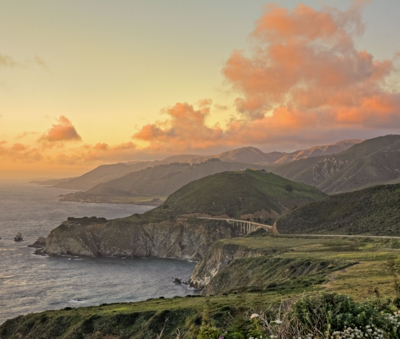 Sunset Clouds Over The Bixby Bridge