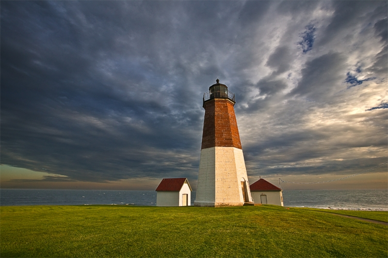 Rhode Island, Point Judith, Lighthouse, Boomin Clouds