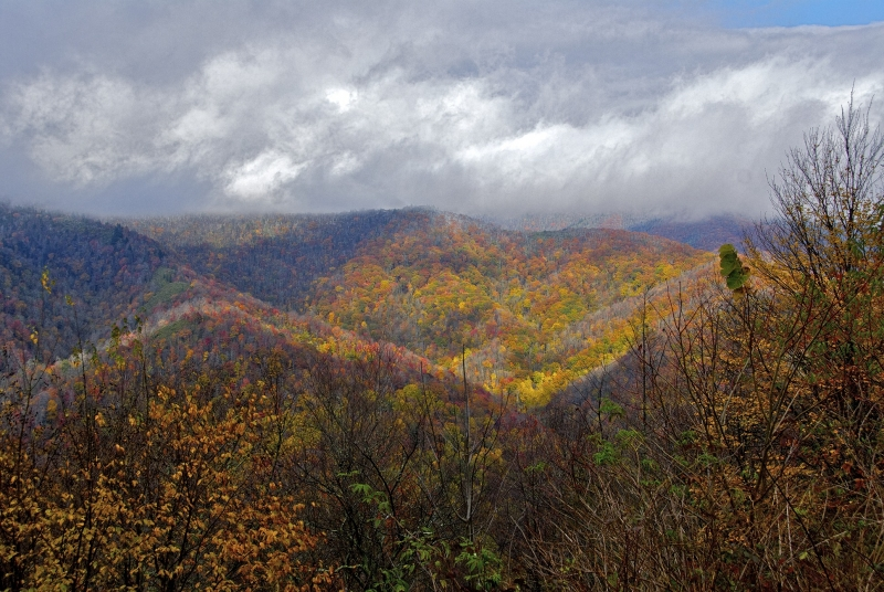 Fall Storm In The Smoky Mountains