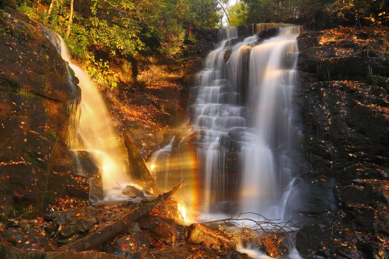Sunset At Soco Falls
