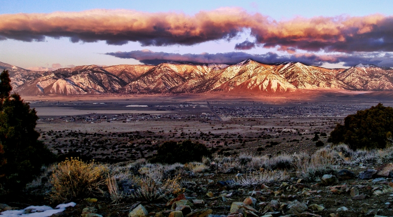 Carson Valley Winter Sunset
