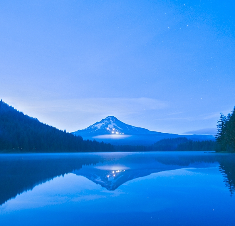 Twilight Over Trillium Lake