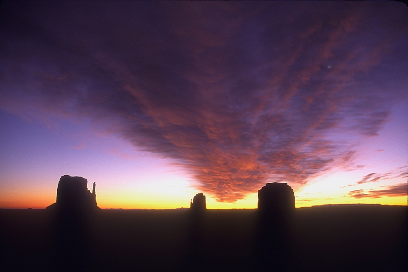 Sunrise, Moonrise, Monument Valley