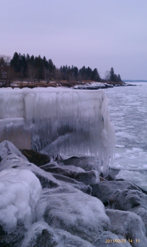 Icy Overlook To Lake Superior