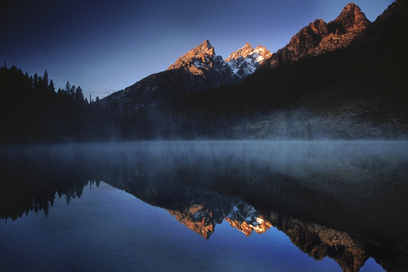 Morning, Tetons And String Lake