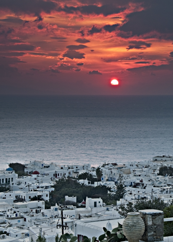 Sunset From Mykonos
