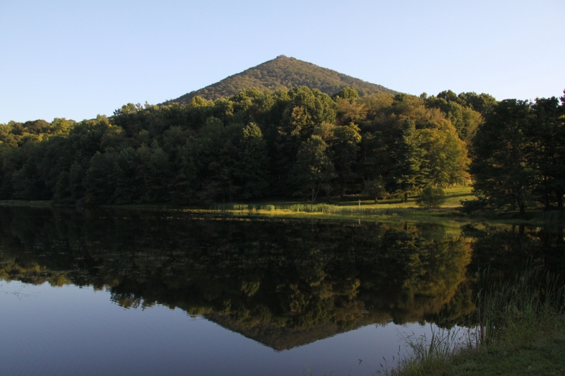 Abbot Lake, Sharp Top, Peaks Of Otter, Blue Ridge Parkway, Va.