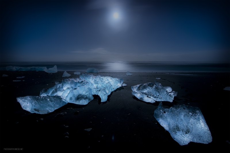 Moonlit Ice