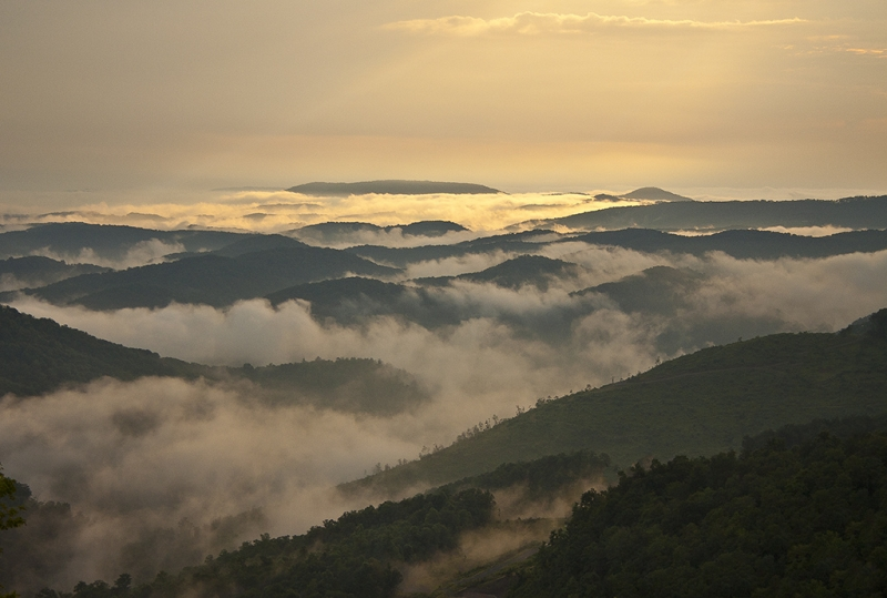 West Virginia Mountains After A Storm