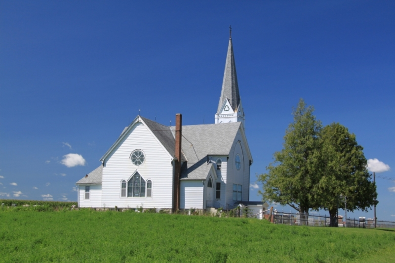 Church In Blue Sky