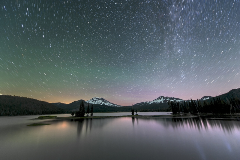 Sparks Lake Star Trails