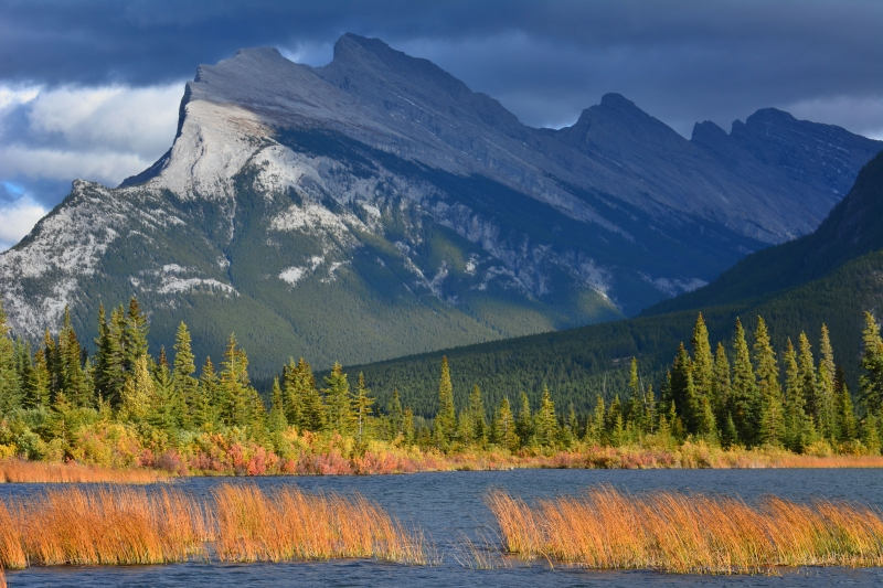 Mt. Rundle From Vermilion Lake