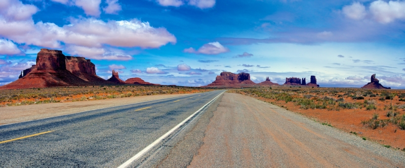 On The Road In Monument Valley