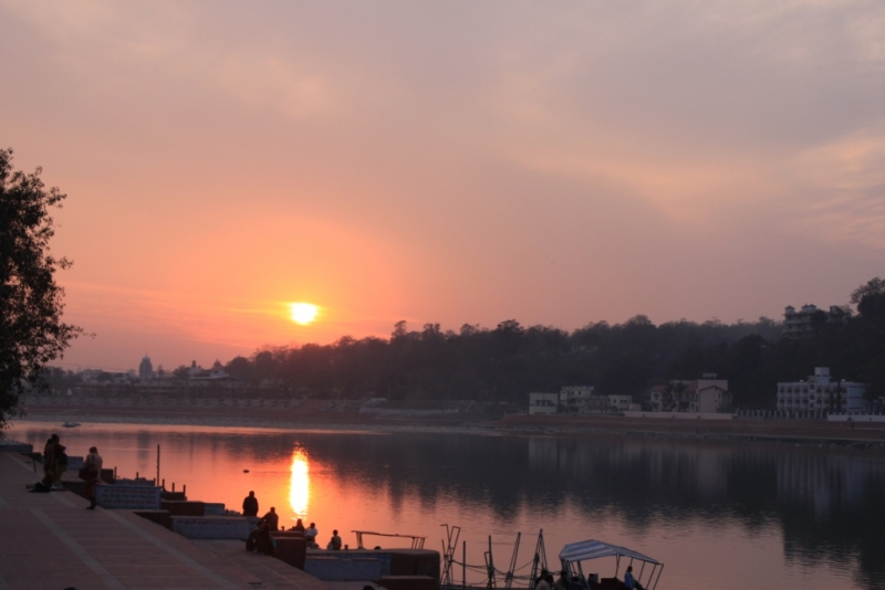 Sunset In The Bank Of Ganges @ Rishikesh