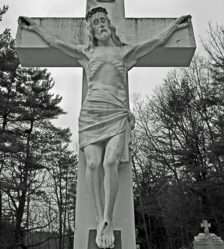 Black And White Jesus Tombstone