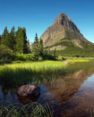 Grinnell Point And Swiftcurrent Lake