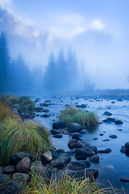 Misty Morning In Yosemite Valley