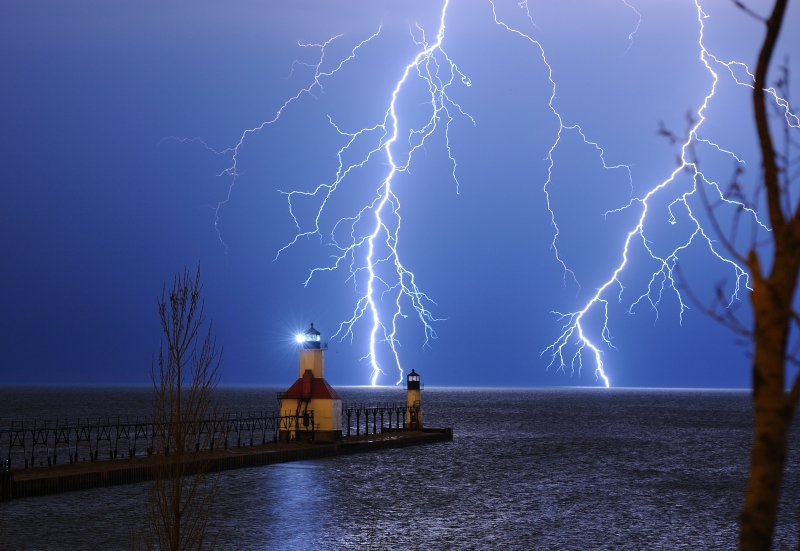 Lightening Over St. Joe Michjigan