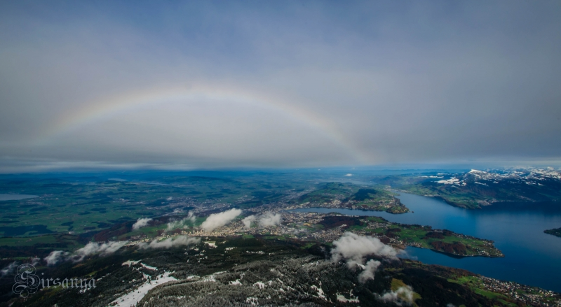 Rainbow From Top Of Pilatus