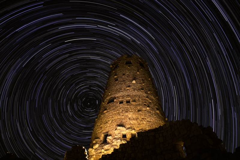 Star Trails Over The Watchtower
