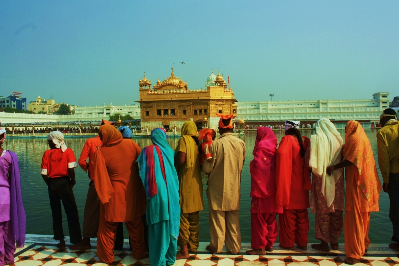 Onlookers At Golden Temple