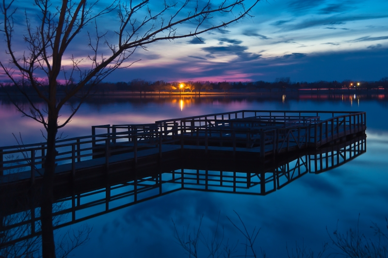 Fishing Dock After Sunset