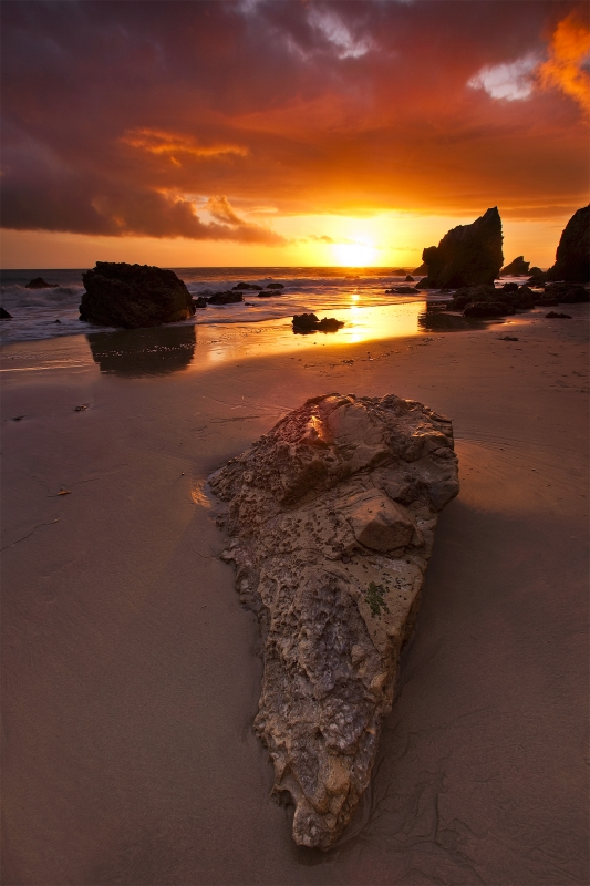 Sunset, El Matador Beach, California