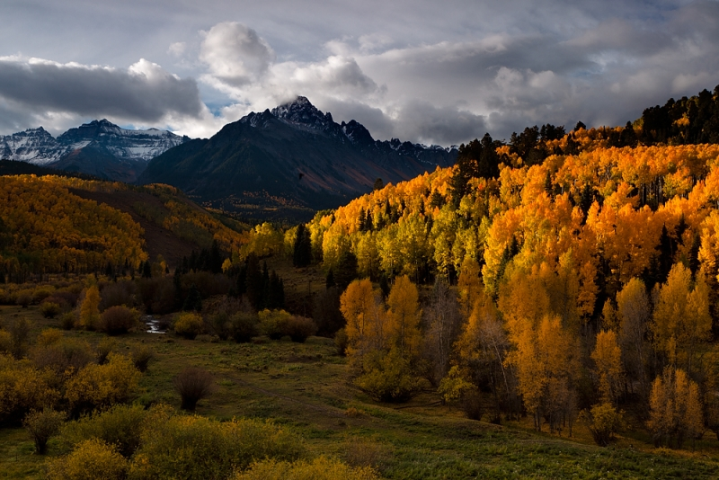 Sunrise, Mt. Sneffels, Dallas Creek, Colorado