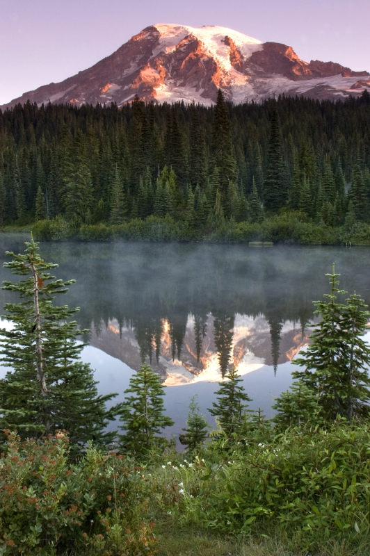 First Light At Reflection Lakes