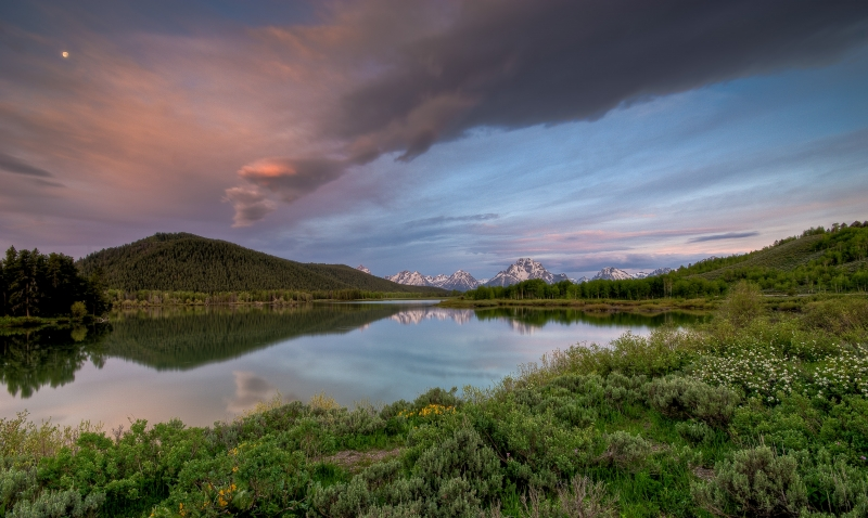 Sunrise On The Oxbow Bend Of The Snake River