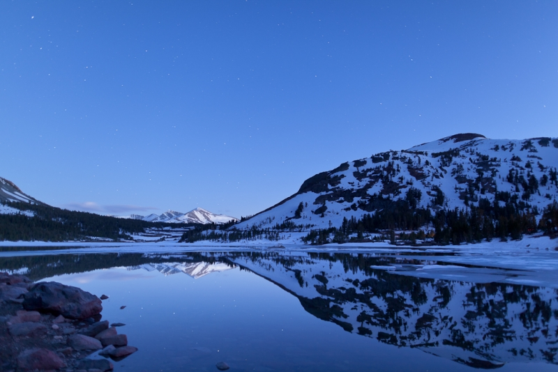 Blue Hour On Tioga Lake