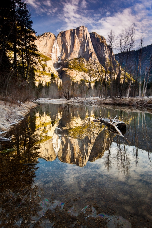 Winter Reflection, Yosemite Falls