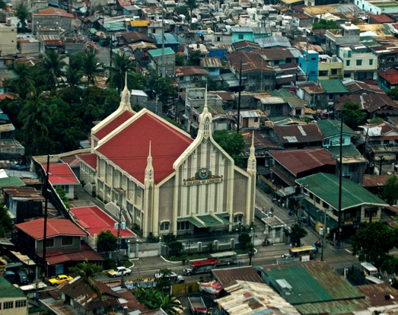 Aerial View Of Church In Manila