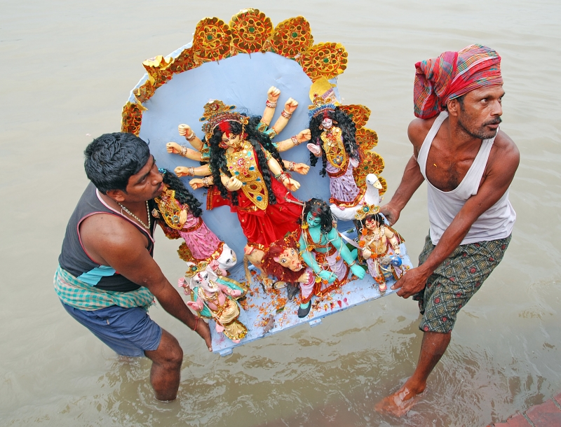 Immersion Of Durga Idol