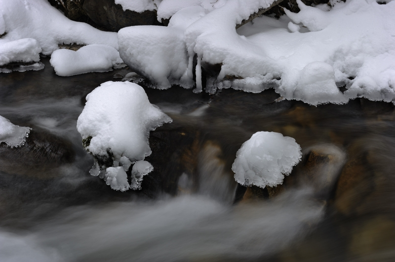 Big Cottonwood Creek Ice Forms